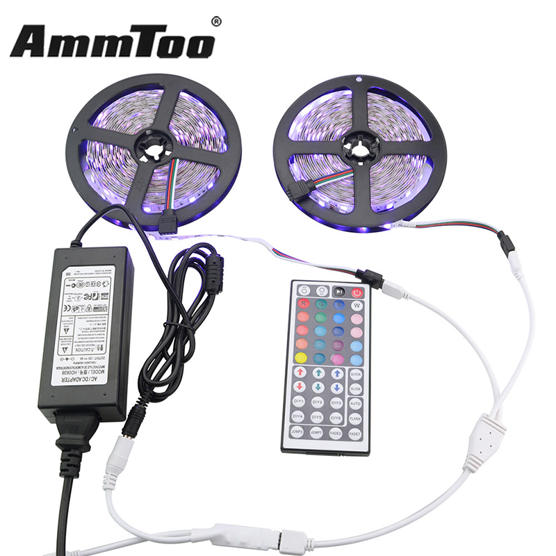 10m 5050 rgb led strip waterproof non waterproof led. Black Bedroom Furniture Sets. Home Design Ideas