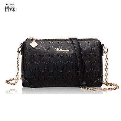 Xiyuan бренд Для женщин кожаные черные Сумки на плечо женский серебряный Курьерские сумки на молнии Сумки с короткими ручками Дамы функционал
