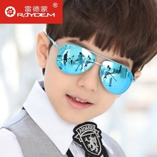 2017 Rushed Cr-39 Gradient Boys The New Children's Sunglasses Polarizer Reflective And Colorful Boy Child Gril Freeshipping