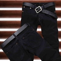 2015 New Free Shipping Fashion Black Color Slim Straight Leisure Casual Brand Jeans Men Hot Sale