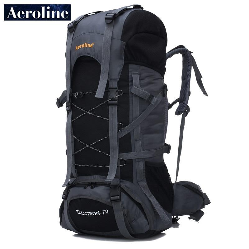 Aeroline Brand Wholesale 70L Men Travel Sport Knapsack Large Capacity Women Mountaineering Bag Waterproof Backpack Free Shipping