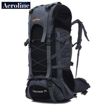 цена Aeroline Brand Wholesale 70L Men Travel Sport Knapsack Large Capacity Women Mountaineering Bag Waterproof Backpack Free Shipping онлайн в 2017 году
