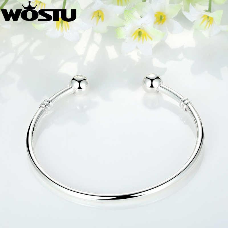 Wostu Hot Koop Europese Charm Bead Bangle & Armband Mode-sieraden Voor Vrouwen Mannen Gift ZBB3040