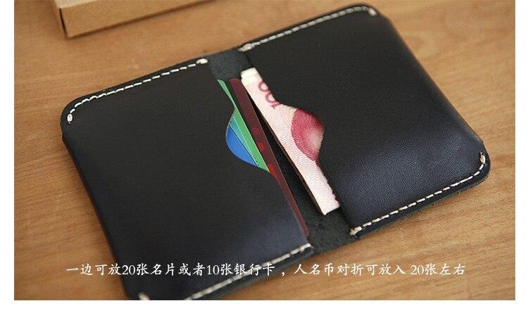LANSPACE גברים מחזיק כרטיס עור אמיתי תעודת זהות מחזיקי בעבודת יד מטבע ארנקים מחזיקי