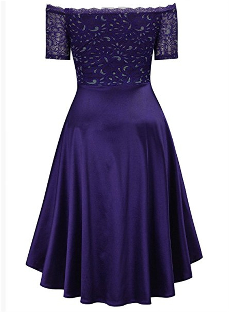Gardlilac lace high low bridesmaid dress boat neck short sleeve gardlilac lace high low bridesmaid dress boat neck short sleeve wedding party dress purple short bridesmaid dress in bridesmaid dresses from weddings ombrellifo Gallery