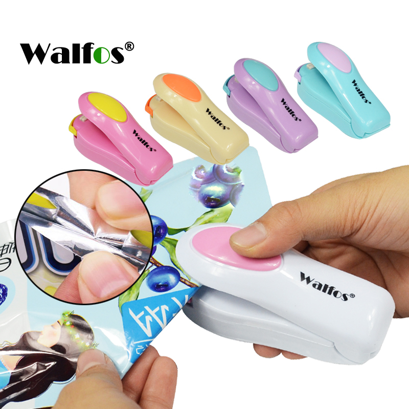WALFOS Vacuum Food Sealer Mini Portable Heat Sealing Machine Impulse Bag Sealer Seal Machine Plastic Bags Sealing Tools