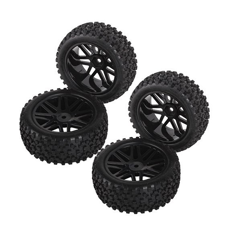 4Pcs RC 1:10 Racing Car On Road Climbing Tires Slip-resistant Wheel Rim & Drift Tyre Tire 1/10 Scale Off-road Vehicles Y @Z191 aluminum 6 spoke wheel rim for 1 10 rc on road racing car