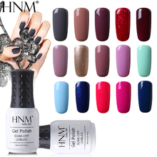 HNM, 8 мл, чистый 28 цветов, УФ-гель для ногтей, замачиваемый, лак для лака, грунтовка, светодиодный Гибридный лак, Полупостоянный верхний слой, основа, краска, гель лак