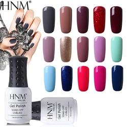 HNM 8ML Reinem 28 Farben UV Gel Nagellack Tränken Weg Von Glück Lack Primer Led Hybrid Lack Semi Permanent top Basis Farbe Gellak