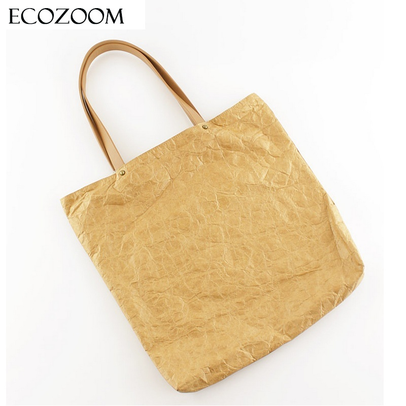 Europe Women Retro Kraft Paper Casual Tote Female Wrinkled Shoulder Bag Simple Solid Canvas Shopping Bag Handbag Sac A Main