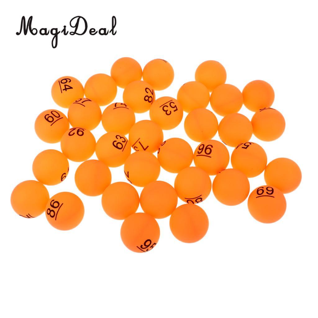 MagiDeal 50 шт. 40 мм пивной пинг-понг NO.51-100 шары, настольный теннис мяч (-понг игры, подходит для практики или турнир)