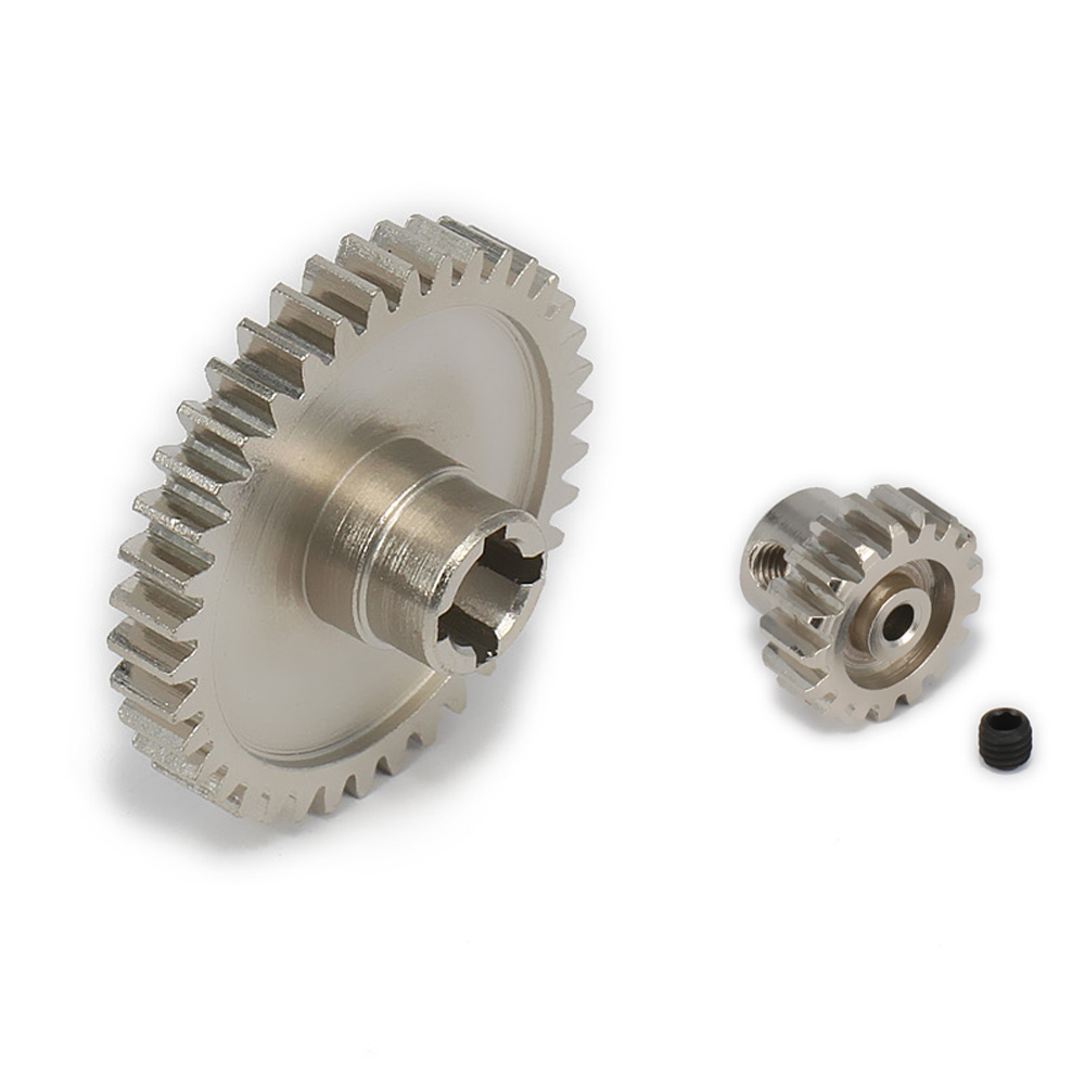 17T Motor Gear + Main Gear For 1/18 Wltoys A959 A969 A979 K929 Model RC Car Upgraded Parts Electric RC Truck Desert Off-road front diff gear differential gear for wltoys 12428 12423 1 12 rc car spare parts
