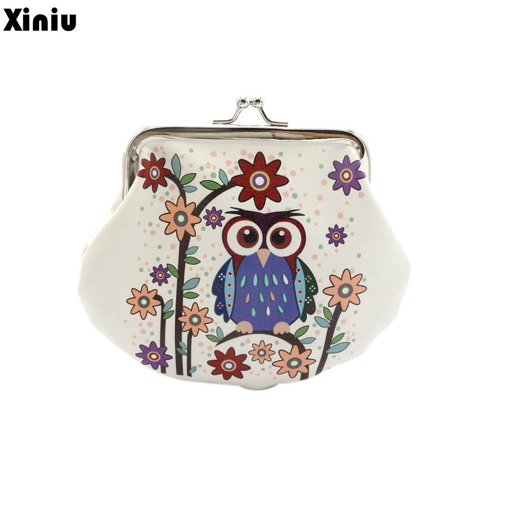 Xiniu Fashion Women Coin Purse Credit Card Pouch Key Holder Small Wallet Lady Retro Vintage Owl Small Hasp Bag bolsa the pelican brief