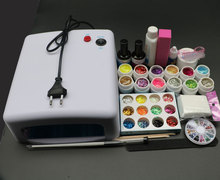 High quality Pro Full 36W White Cure Lamp Dryer & 12 Color UV Gel Nail Art Tools Sets Kits BTT-123