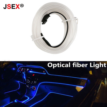 1PC Car Led Interior Ambient Tuning Fiber Flexible Atmosphere Wire Strip Lamp Optical instrument panel molding Decorative Light