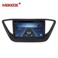 MEKEDE Android 8,1 автомобильный dvd для Hyundai Verna Solaris accent 2016 2017 2018 автомобильный Радио мультимедийный плеер gps Поддержка 4 г