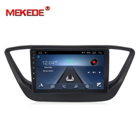 MEKEDE Android 8.1 Car dvd for hyundai verna solaris accent 2016 2017 2018 car radio multimedia player gps support 4G