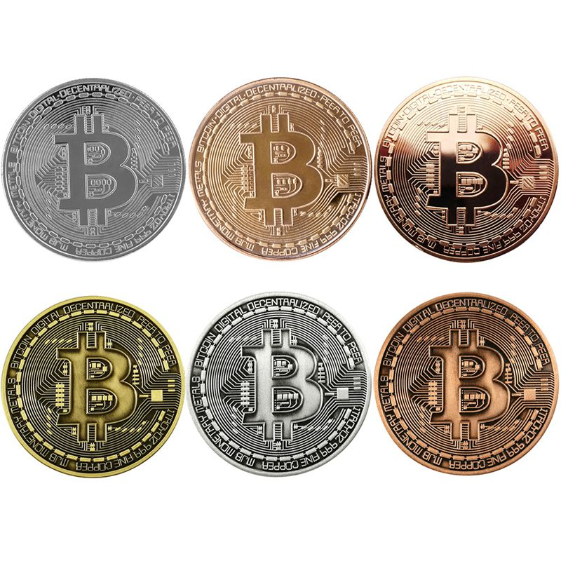 Art Collectibles Business Party Decor Game Gifts Bitcoin Commemorative Round Collectors Coin Bit-Coin Embossed Super Brain