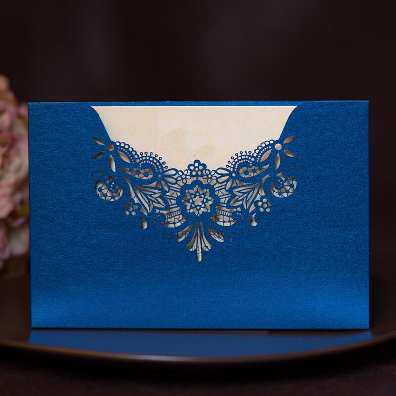 30pcs/lot Classic Elegant Wedding Invitation Cards Laser Cut Hollow Flower House Moving Birthday Party Invitations