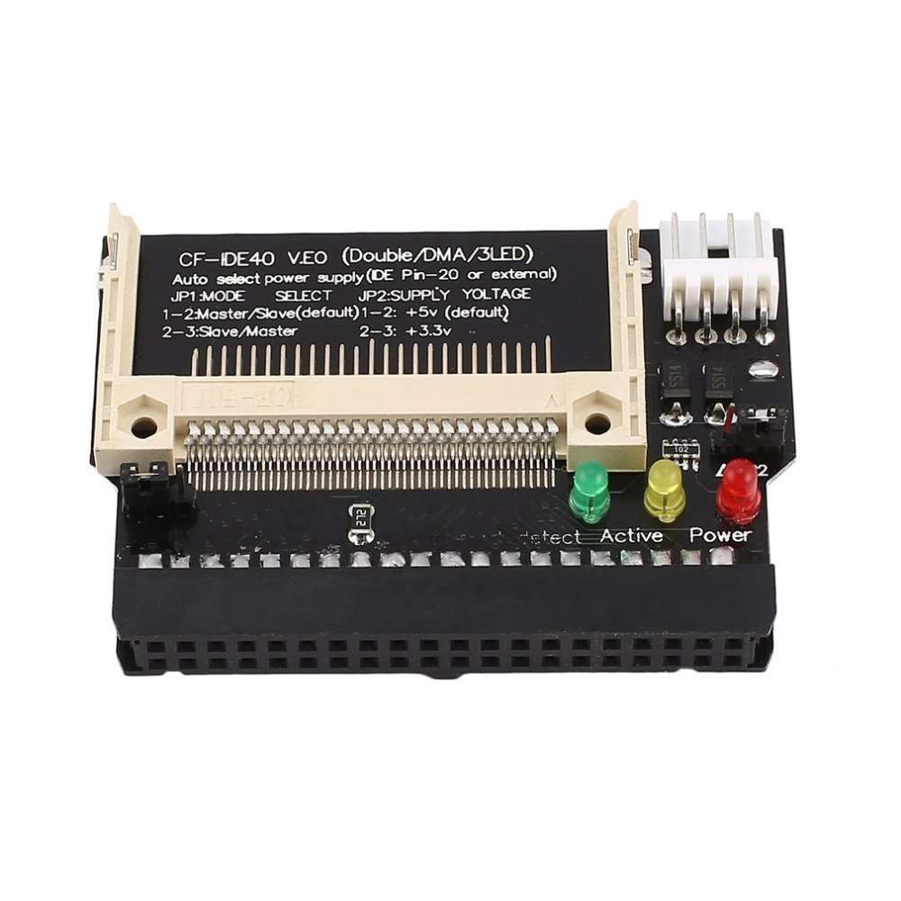 1pc Single Compact Flash CF to 3.5 IDE 40Pin Male adapter Card  PLV