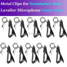 10pcs Spare Replaceable 6-7mm Metal clip Mic clips for Sennheiser ME2 Sony V1 D11 Lavalier Lapel Microphones