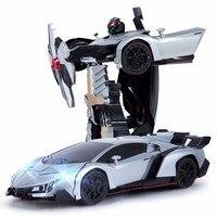 Hot Sales Models Deformation Robot Toy Sports Model Transformation Remote Control Deformation Car RC Toys Kids
