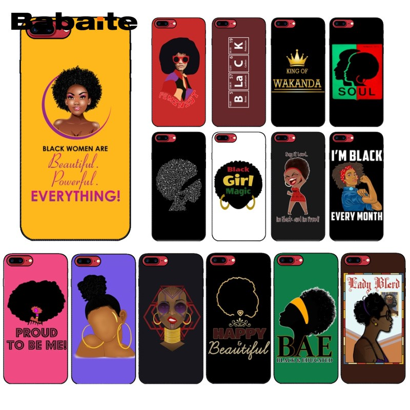 Humorous 2bunz Melanin Poppin Aba Hot Printed Cool Phone Accessories Case For Apple Iphone 7 6 8plus Xs Xr X Xamax 7plus 5 Se 7plus 8plus High Safety Clothing, Shoes & Accessories