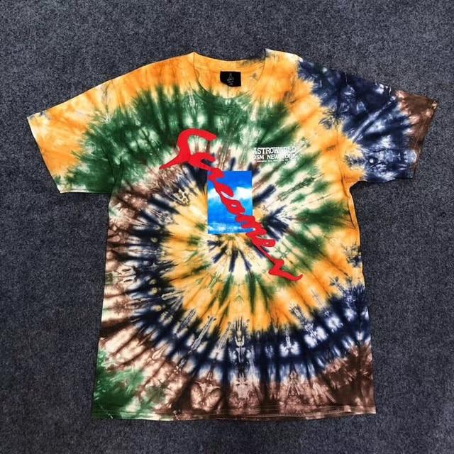 19ss NEW Hip Hop Travis Scott Astroworld X DSM NY Screamer T shirt Men women Best-Quality Short sleeve Fashion Cotton tees