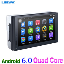 LEEWA NEW ! 7″ 7inch Ultra Slim Android 6.0 Quad Core Car Media Player With GPS Navi Radio For Nissan/Hyundai 2DIN ISO #CA3887
