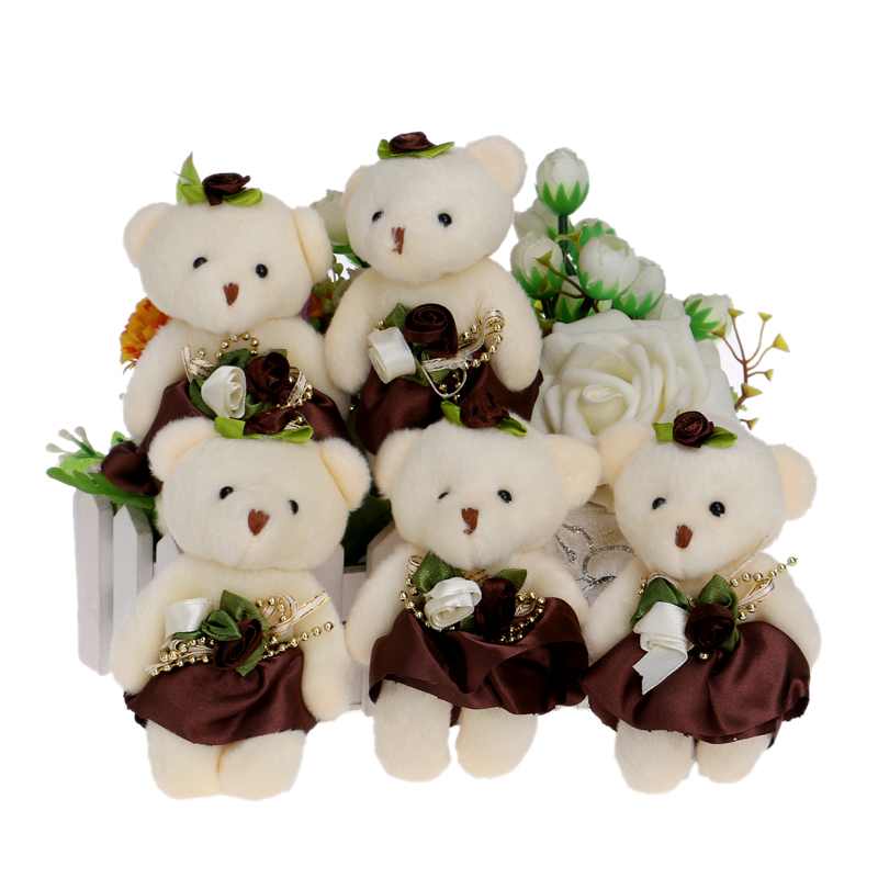 Hot Sale 10pcs/lot Flower Bouquets Teddy Bear Small Model Cotton ...