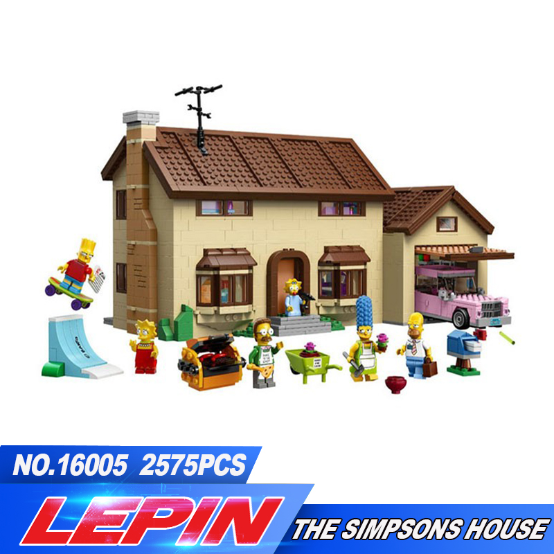 New LEPIN 16005 2575Pcs the Simpsons House Model Building Block Bricks Compatible 71006 Boy gift legoed цена