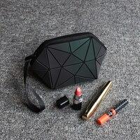 DVODVO Brand Luminous Geometry Diamond Case Bao Bao Bag Women Cosmetic Bag Ladies Pencil Case Makeup