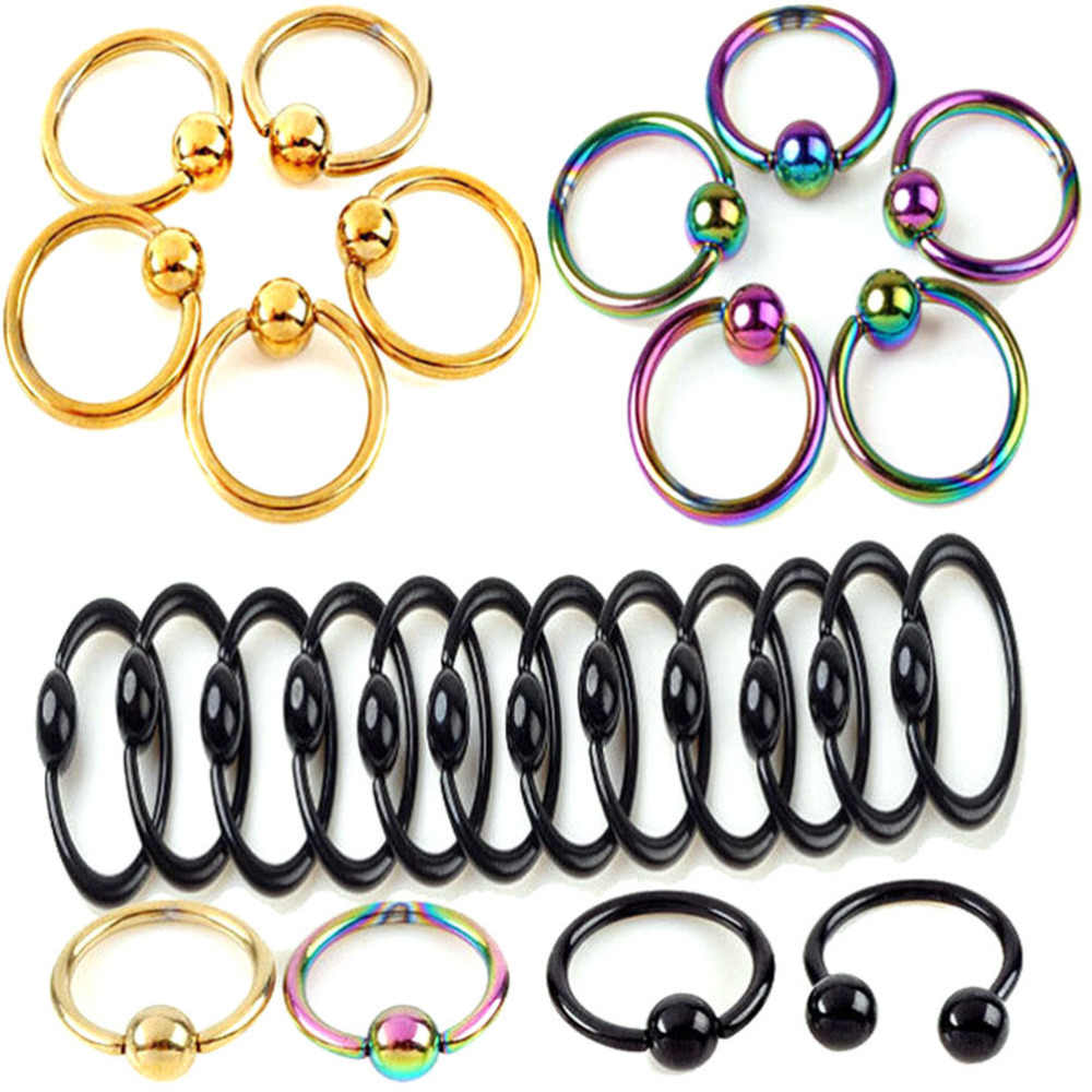 Fashion Nose Rings Stainless Steel Nose Lip Ring Stud Body Piercing Jewelry