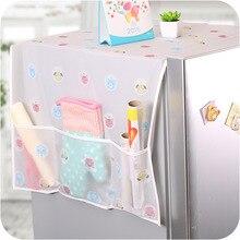 PEVA Modern Cartoon Flower Pattern Refrigerator Furniture Electrical Dustproof Tablecloth Multi-pocket Cover Cloth Storage Bag