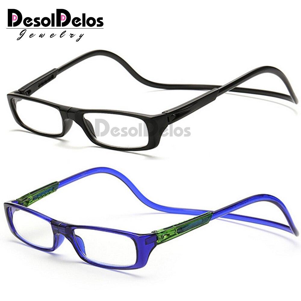 1 Pc Verbesserte Unisex Magnet Lesebrille Männer Frauen Bunte Einstellbare Hängenden Hals Magnetische Vorder Presbyopie Brille