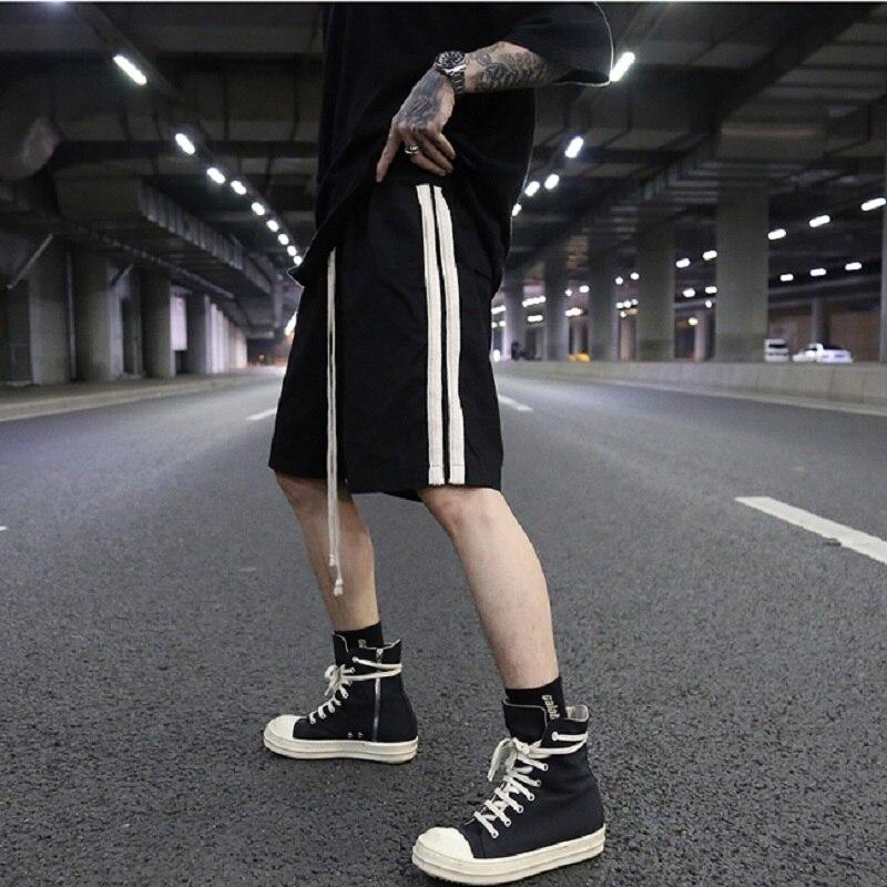 Europe et amérique ins style RO série rayures lâche série sombre shorts décontracté és pantalons de sport marée hommes et femmes sauvages