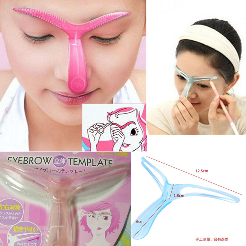 2017 New Eyebrow Grooming Stencil Kit Template Makeup Shaping Shaper