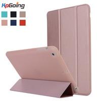 Case voor iPad mini 1 2 3, drieslag TPU Siliconen Cover Candy Kleur Ultra Slanke PU Lederen Silicon Case voor iPad mini 1 2 3