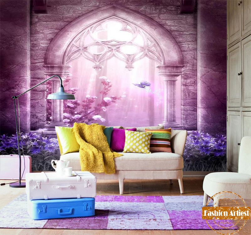 Custom adventure in wonderland wallpaper mural fantasy Gothic arch ...