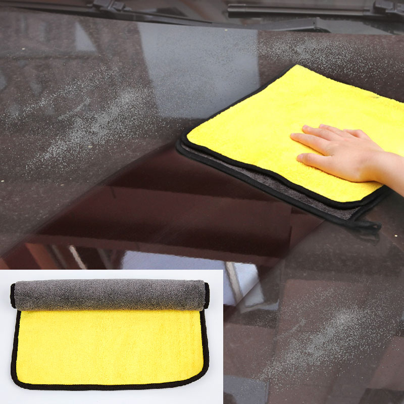 Exterior Accessories Car Stickers 30cm Super Absorbent Car Wash Cloth Microfiber Towel Cleaning Drying Cloths Rag Detailing Car Towel Car Care Polishing Punctual Timing Dependable 30