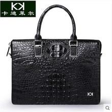 Kadiler crocodile handbag leather men's bags obliquely across business briefcase leisure shoulder bag large capacity