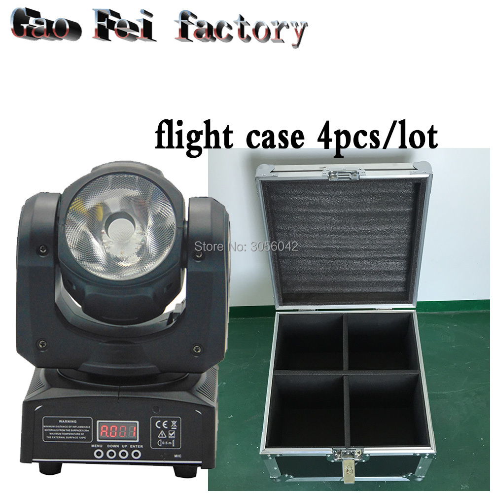 flight case 4pcs/lot Led Moving Head rgbw 4in1 Beam 60W Led fast moving DMX 10/13 Channels Stage Lighting DJ стоимость
