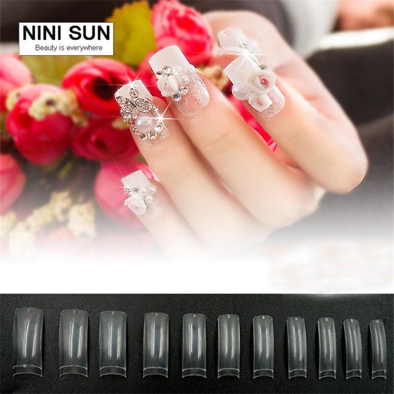 500PCS/Set +50pcs free Artificial Nails Modern French Nail Tips ...