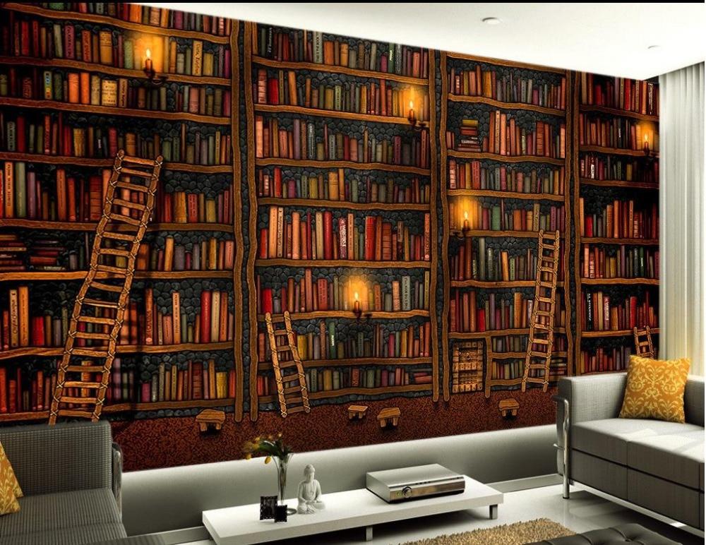 3D painting murals wallpaper backdrop books papel parede mural wallpaper 3d wallpaper modern for living room murals пляж на самуи