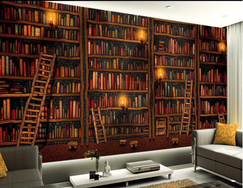 Aliexpress Buy 3D Painting Murals Wallpaper Backdrop Books Papel Parede Mural 3d Modern For Living Room From Reliable