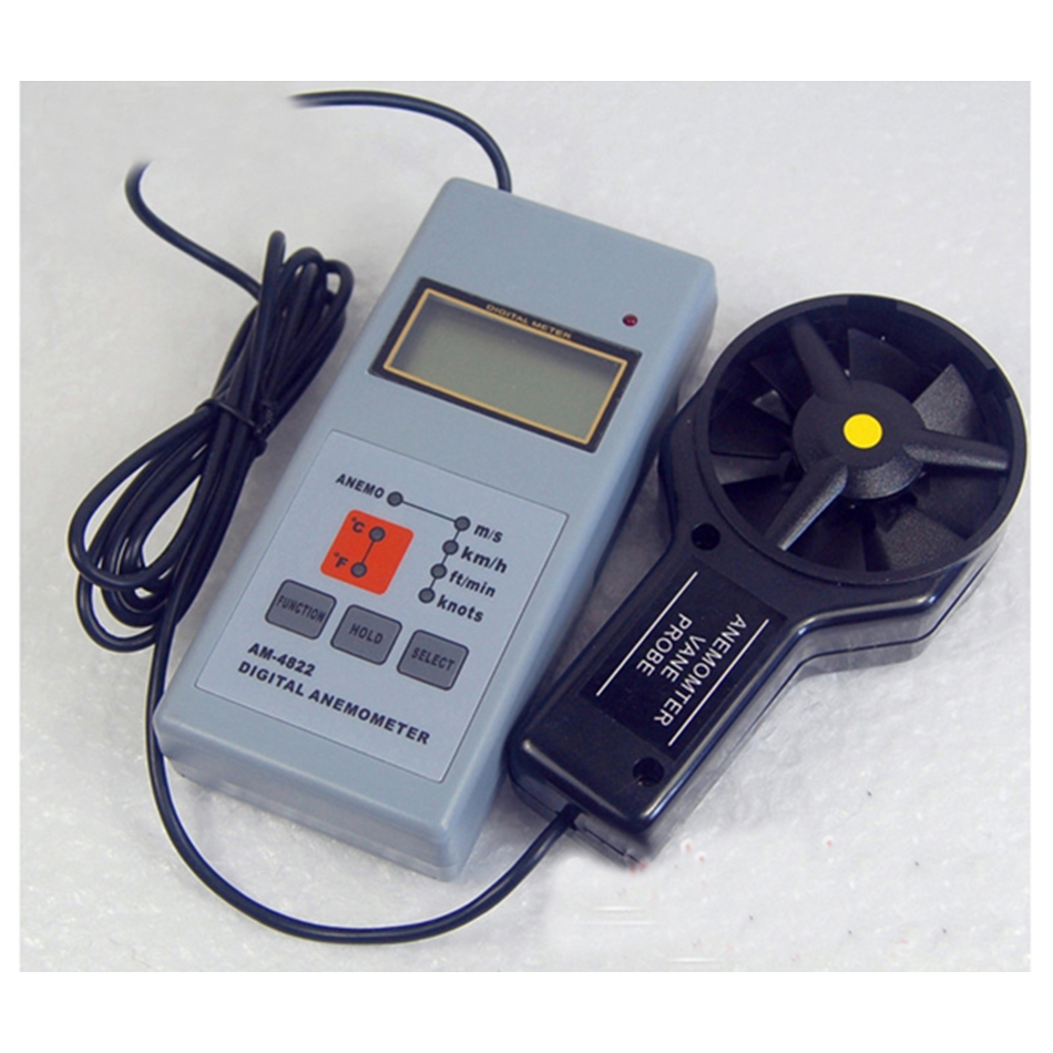 AM4822 Digital Anemometer Wind Speed Meter Handheld Accurate Low Battery Indicator LCD AM4822 Digital Anemometer Wind Speed Meter Handheld Accurate Low Battery Indicator LCD