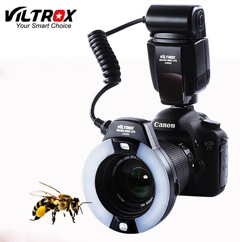 Viltrox JY-670C DSLR Camera photo LED TTL Macro Ring Lite Flash Speedlite Light for Canon 1300D 800D 77D 5D Mark IV 7D II 6D 80D ismartdigi lp e6 7 4v 1800mah lithium battery for canon eos 60d eos 5d mark ii eos 7d
