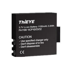 Image 5 - Двойное зарядное устройство + две перезаряжаемые батареи 1100 мАч для экшн камеры ThiEYE T5 Edge/T5 Pro/T5e/AKASO V50 Elite / 8k