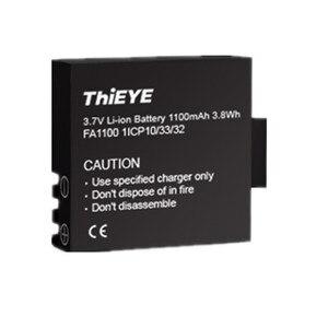 Image 5 - Podwójna ładowarka + dwa akumulatory 1100mAh do ThiEYE T5 Edge/T5 Pro/T5e/AKASO V50 Elite / 8k kamera akcji