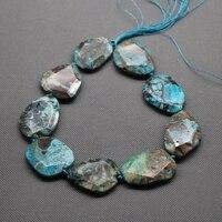 Grote aqua slice kralen synthetische onderzetters kralen, Geode Onderzetters Druzy Gems Stone Ketting voor Lady